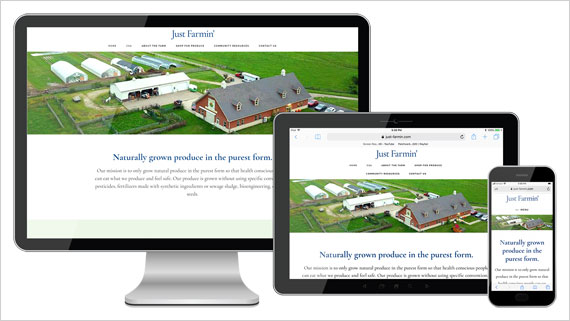 Just Farmin' Website